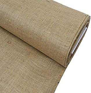 Burlap Fabric, 38-40 Inches Wide, Over 100 Yards in Stock - 100% Jute - Multiple Colors (5 Yards, Natural)