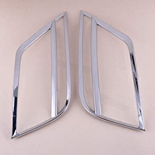 D-Sporting Goods New Silver Abs Chrome Rear Tail Fog Light Lamp Cover Trim Car Styling Accessiories Fit for Volkswagen Vw T-ROC 2017 2018