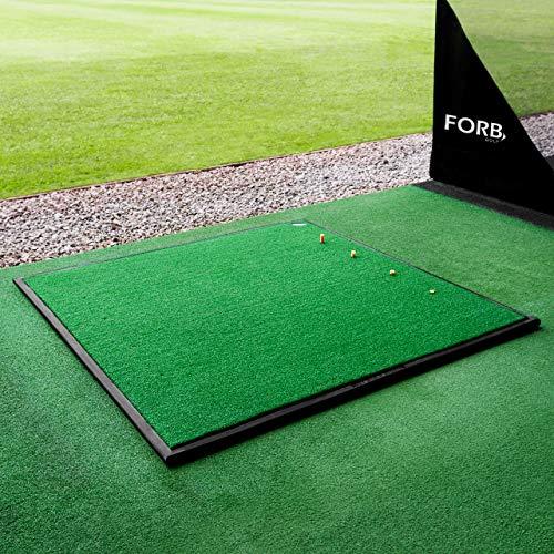 FORB Golf Driving Range Übungsmatte – 30mm Golf Kunstrasen – optionale Gummiunterlage (150cm x...