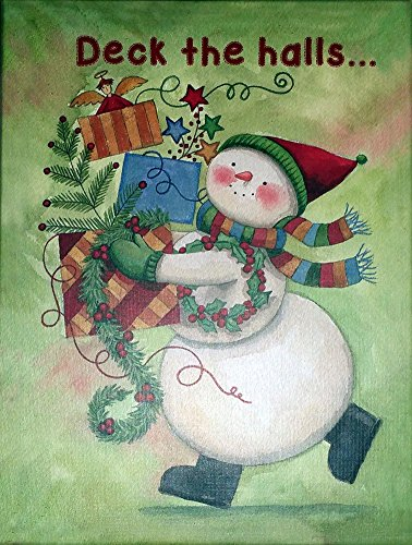"Best Value ""Deck the Halls"" with Snowman Card Box Set of 20 Cards and Envelopes AT A GOOD PRICE {jg} Great for Mother, father, dad, grandma, grandpa, lgbtq, gay."