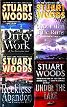 Stuart Woods 4 Books: Dirty Work / Shoot Him If He Runs / Reckless Abandon / Under the Lake