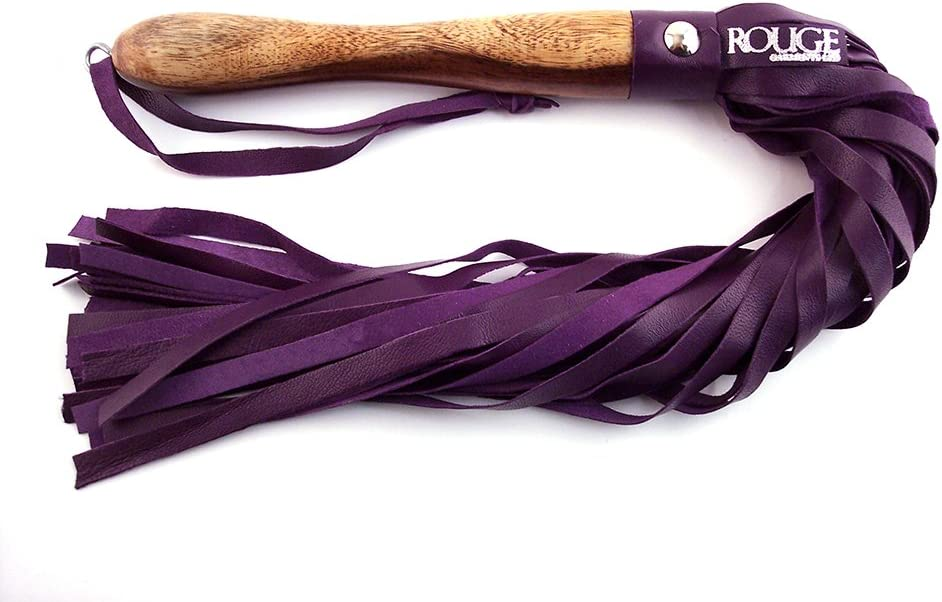 Rouge Garments Unisex-Adult's Leather Handle with Wooden favorite Gifts Flogger