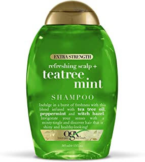 OGX Extra Strength Refreshing Scalp + Tea Tree Mint Shampoo, 13 Ounce