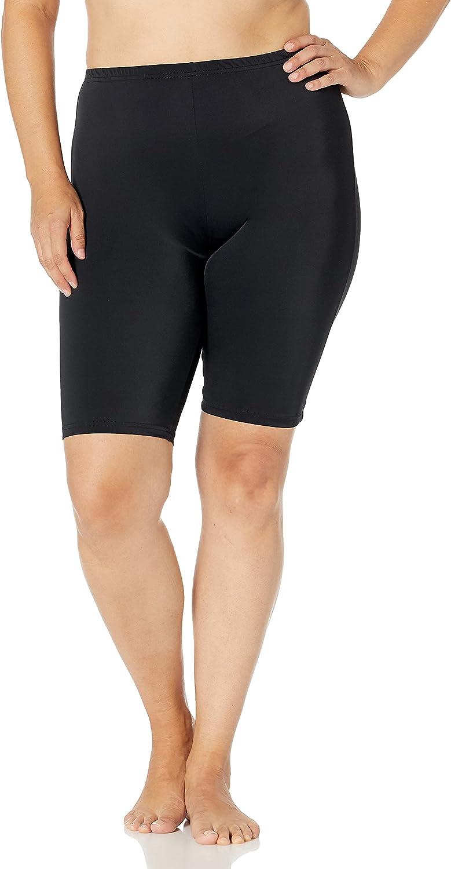 Fit 4 U Women's Solid Bottom Long Swim Bike Short