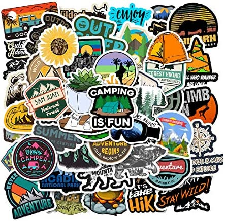 100 Pcs Outdoor Adventure Stickers Wilderness Nature VSCO Stickers Pack Hiking Camping Travel product image