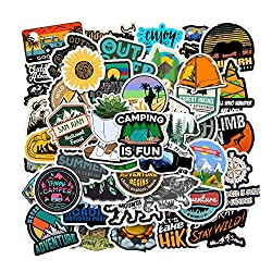 100 Pcs Outdoor Adventure Stickers Wilderness Nature VSCO Stickers Pack Hiking Camping Travel Waterproof Vinyl Decals for Water Bottle Hydro Flask Laptop Luggage for Adults Teens Girls