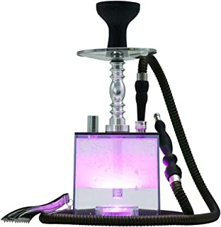 Hookah Set KITOSUN Micro Modern Cube Acrylic Hookah with Silicone Hookah Bowl Leather..