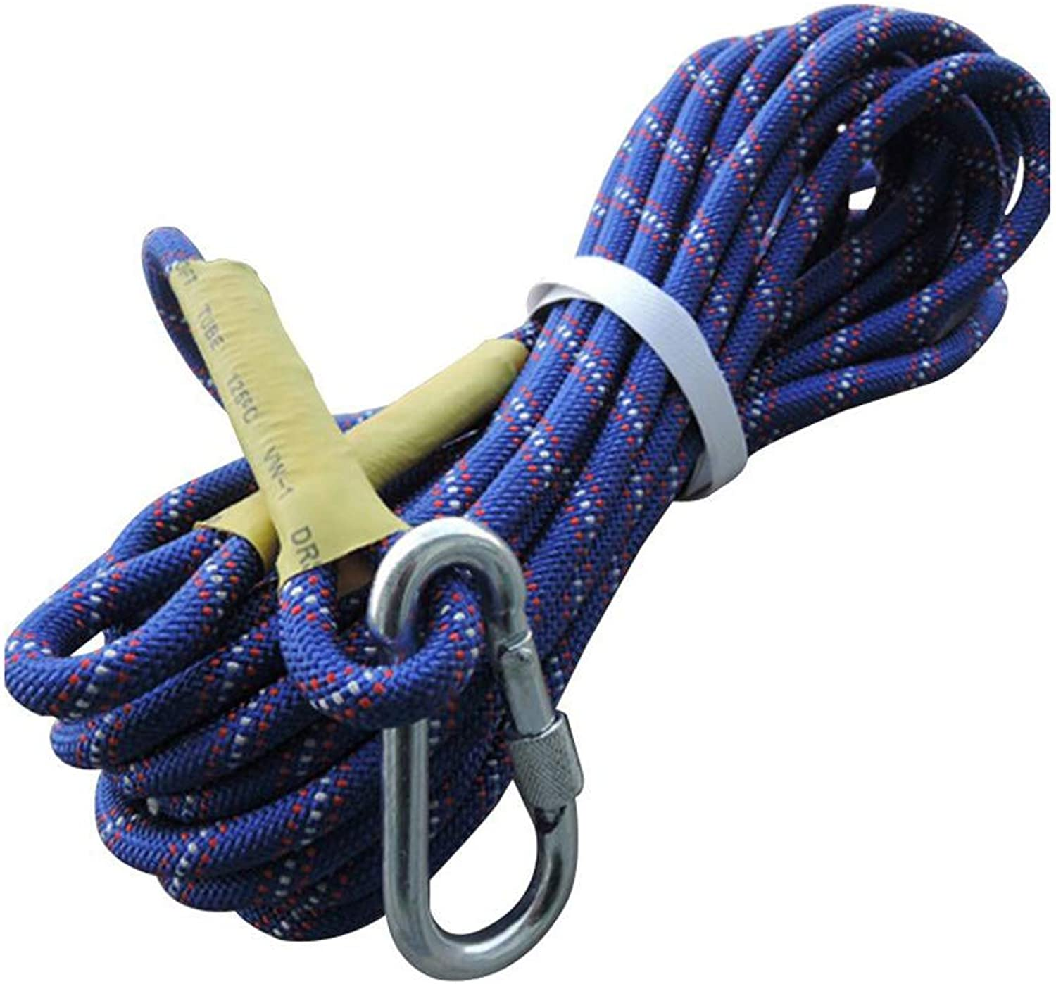 Climbing Rope ,WearResistant Outdoor Climbing Rope,Lifeline Equipment Rope Rope Safety Rope Insurance Rope Aerial Work Rope (color   blueee, Size   Diameter 10.5mm 10M)
