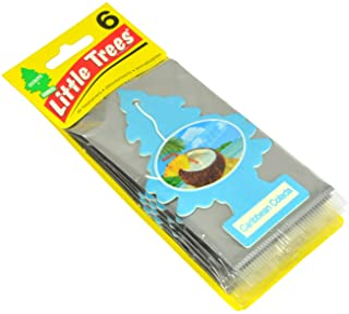Little Trees Car Air Freshener 6-Pack (Caribbean Colada)