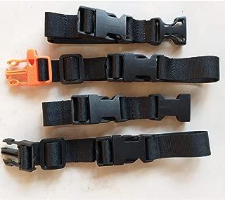 Amlrt 2 Pack Backpack Chest Strap- Nylon - Adjustable Universal (Black)