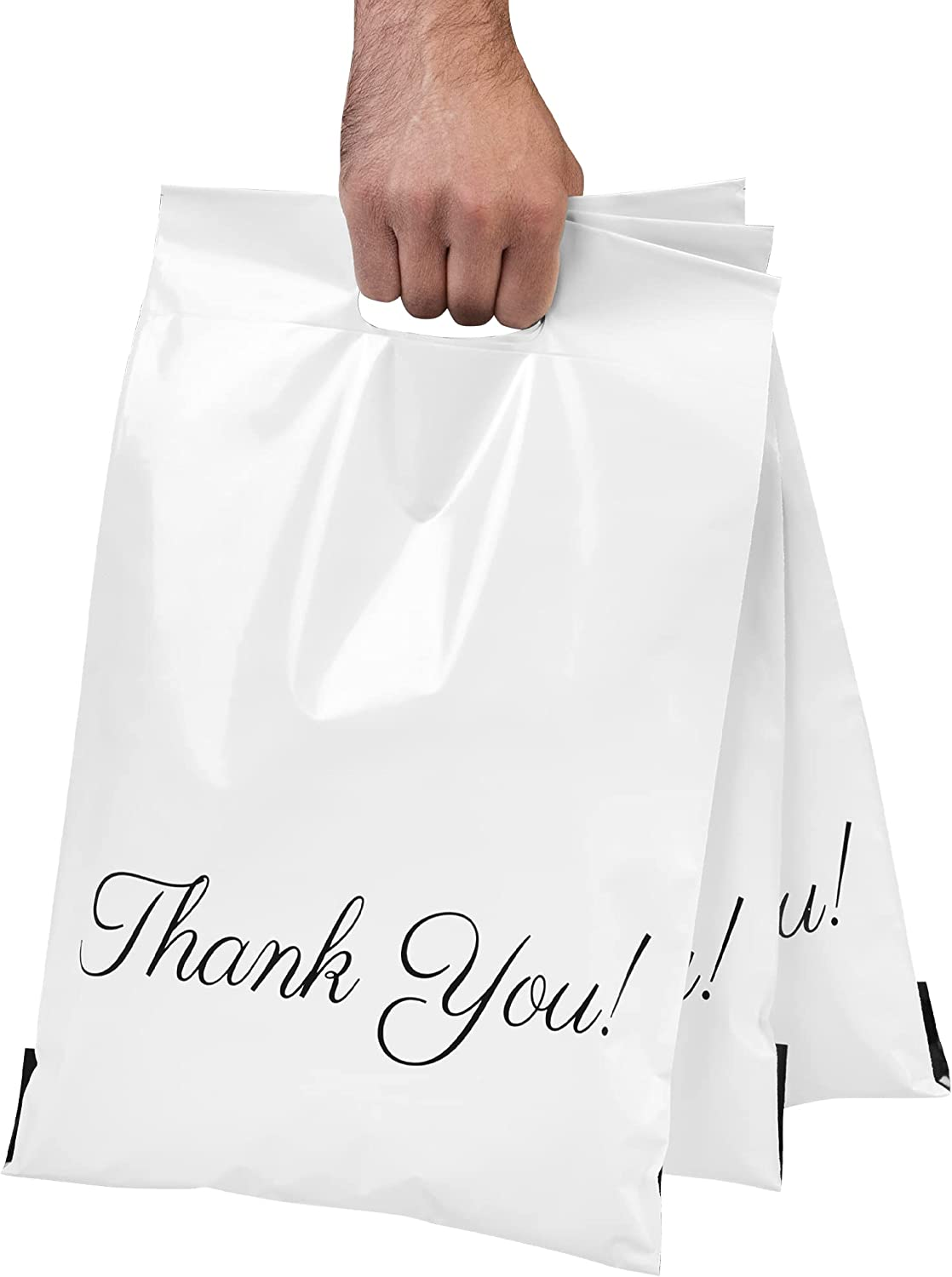 Poly Mailers 10x13 with Long-awaited Handle 100 Packaging Translated Y Pack Bags Thank