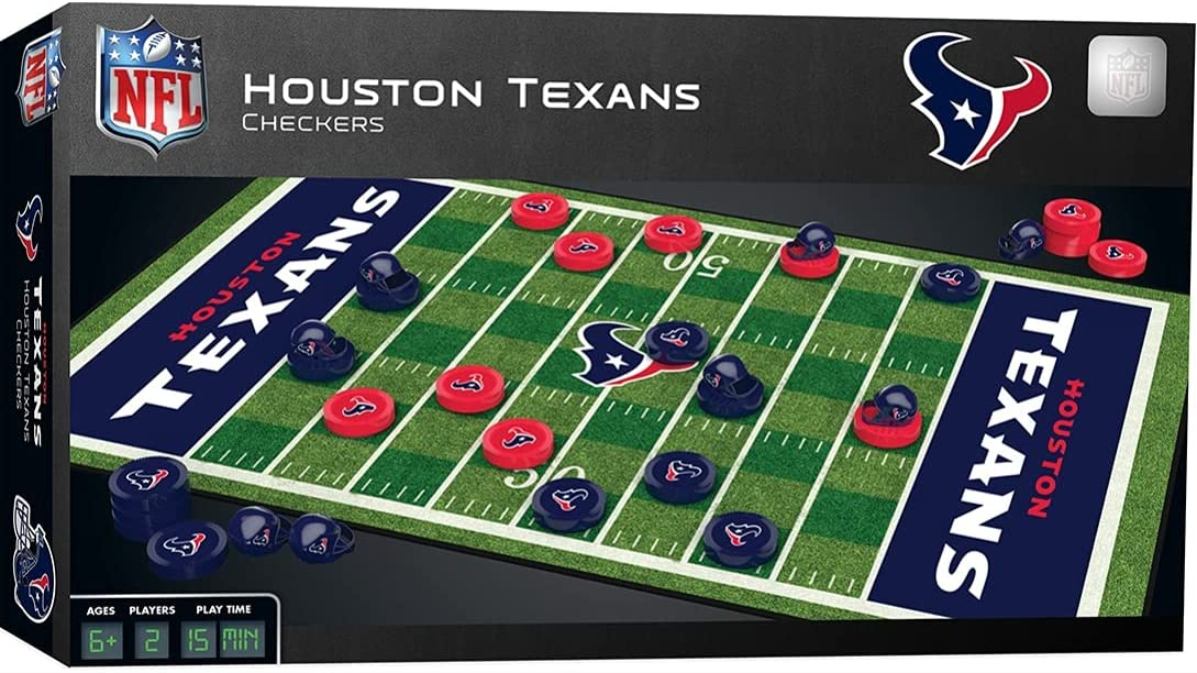 MasterPieces NFL Houston Texans Checkers Game Don't miss New color the campaign Set Board