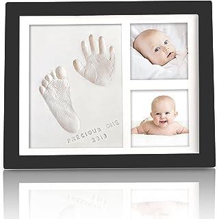 KeaBabies Baby Handprint Footprint Keepsake Kit - Baby Prints Photo Frame For Newborn - Baby Nursery Memory Art Kit Frames...