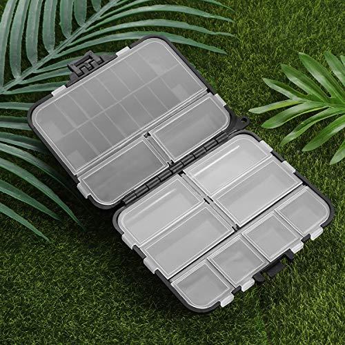 Vorcool Fishing Tackle Box Plastic Fishing Box Professional Fishing Accessories Storage Box (Black)