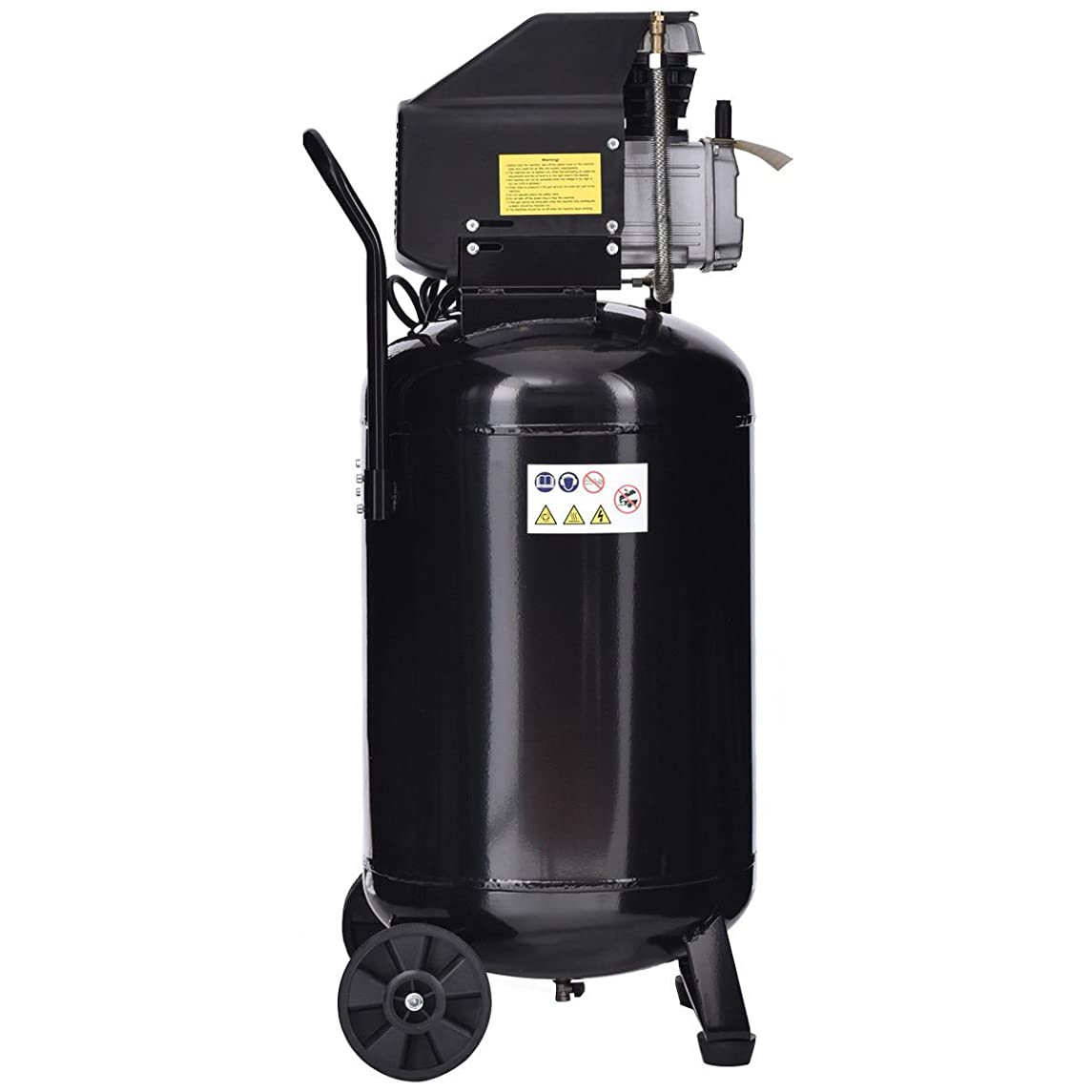 Cypressshop Portable Vertical Air Compressor 21 Gallon 125 PSI Cast Iron 2.5HP Motor Used in Machinery Chemical Industry Spray Decoration Automatic Control Workshop
