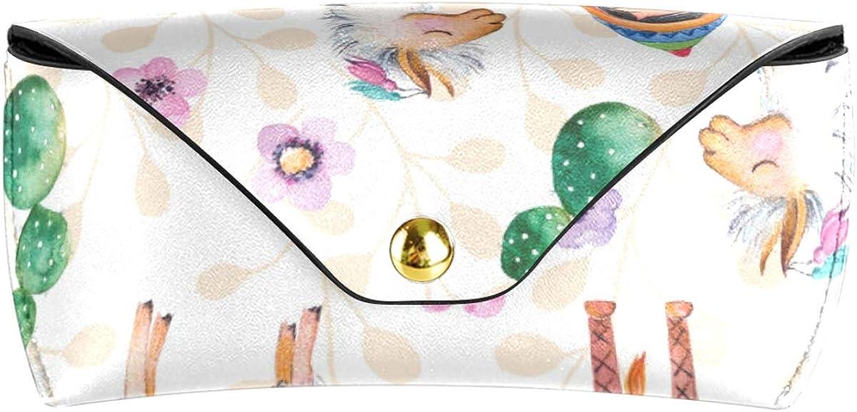 present Multiuse PU Leather Portable Little Girl Alpaca Animal Goggles Bag Sunglasses Case Eyeglasses Pouch
