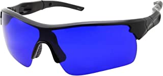 Men's Golf Ball Finder Glasses - True Blue Lens - Sports Style Frame - Wrap Around Sunglasses