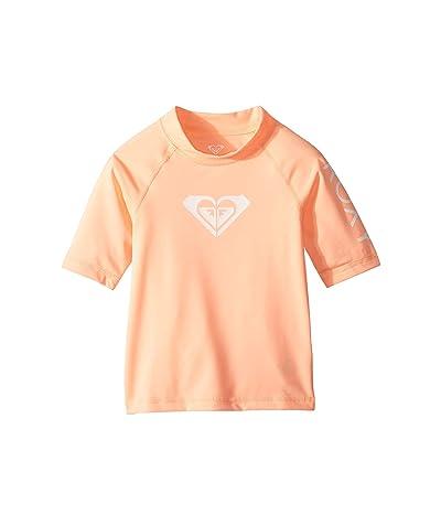 Roxy Kids Whole Hearted Short Sleeve Rashguard (Big Kids) (Souffle) Girl