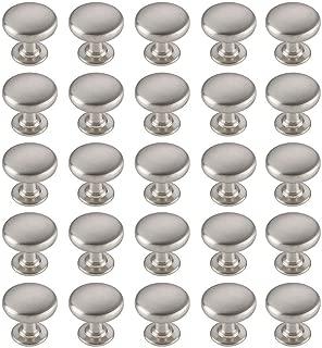 TimmyHouse Pull Handle Knobs Mushroom Brushed Satin Nickel Cabinet Handles Kitchen Drawer 100 Pcs
