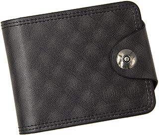 BeniNew square griller men's wallet short casual wallet large capacity-black