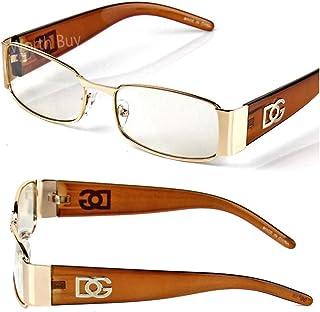 7eda27f79e66a Men Women DG Clear Lens Designer Rectangular Eyeglasses Retro Fashion Nerd  Frame