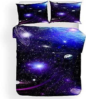 Juego de cama Funda nórdica Funda de almohada Galaxia