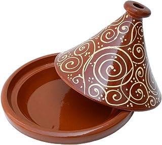 Tajine Tagine Pentola in Terracotta Piatto Marocchino Artigianale /ø26cm Ramous
