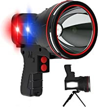 ANLOOK Rechargeable Spotlight,Super Bright 6000 High Lumens Handheld LED Flashlight Spot lights,5 Light Modes Marine Boat ...