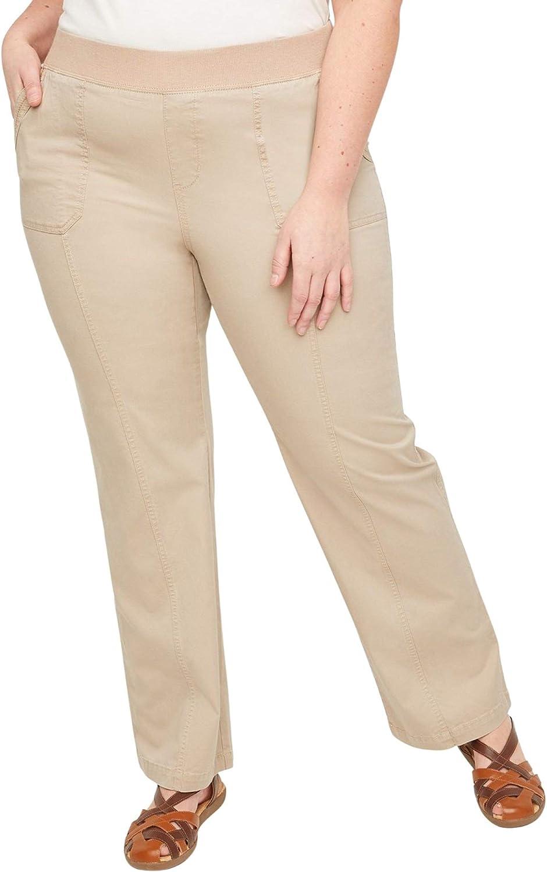 Catherines Women's Plus Size Knit Waist Cargo Pant