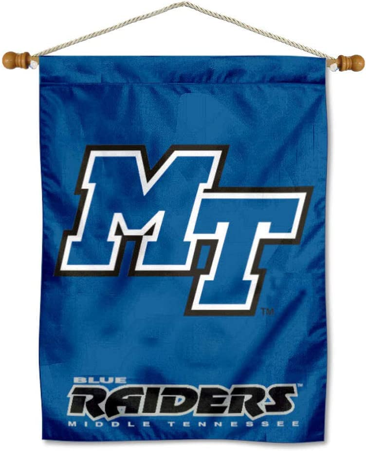 College Flags Direct store Banners Co. Middle Raiders Banner shopping Blue Tennessee