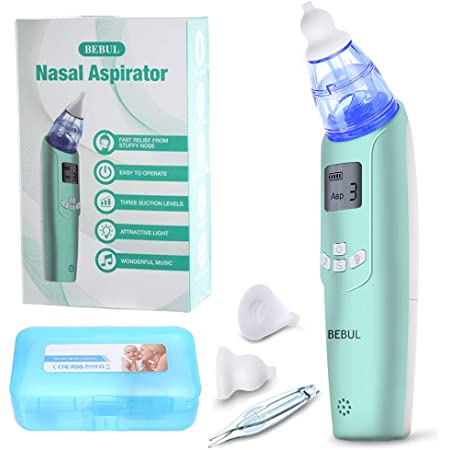 Rechargeable Nasal Aspirator Newborn Includes Nasal Tweezers DynaBliss Baby Nose Sucker with 4 Medical Silicone Tips and 3 Suction Levels Baby Nasal Aspirator Electric