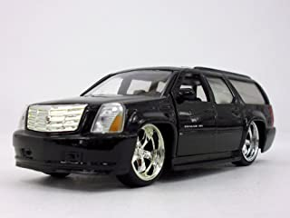5.5 inch Cadillac Escalade ESV - Custom Lowrider 1/32 Scale Diecast Metal Model - BLACK