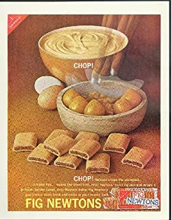 Chop! Chop! The plumpest juiciest figs Nabisco Fig Newtons ad 1962