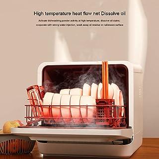 SILENTLY Lavavajillas Escritorio, Independiente del Aire Caliente De Secado/Alta Temperatura De Limpieza / 5 Tipos De Modos De Limpieza, Pequeño Lavavajillas Domésticos