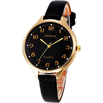 Siviki Watch, Women Casual Checkers Faux Leather Quartz Analog Wrist Watch