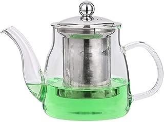 Teapots Heat-resistant Glass Red Tea Pot Elegant Tea Brewing Tea Cup Flower Teapot Cups 600ml Tea pot (Color : B)