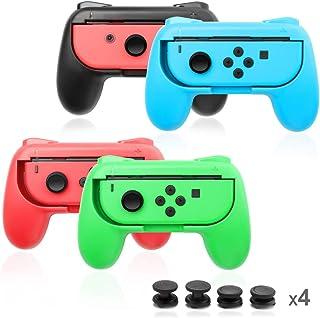 ジョイコンハンドル Nintendo Switch専用 Joy-Conハンドル グリップ 4個 任天堂 スイッチ Opluz ギフト 4個 サムスティックJoy-Con グリップ アクセサリoy Con ハンドル 専用 switch スイッチ コントローラー
