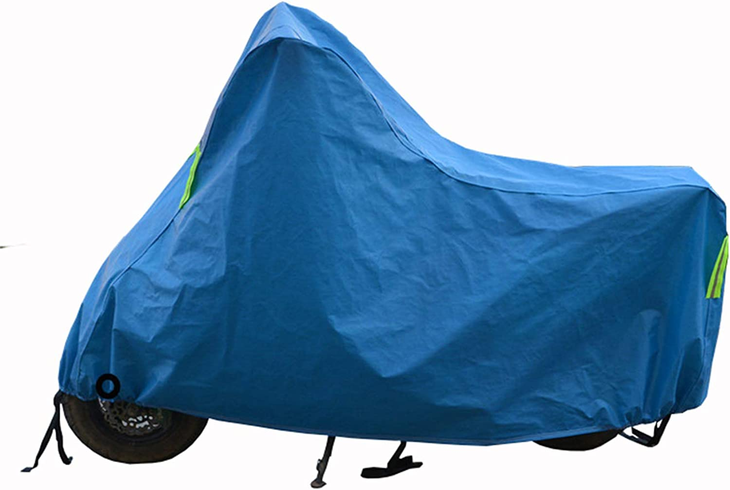 Motorcycle Cover, Bicycle Cover, Waterproof, Dustproof, Snowproof, UV Resistant, Outdoor Predective Cover, with Reflective Strips, Various Sizes, (S M   L XL) bluee color.