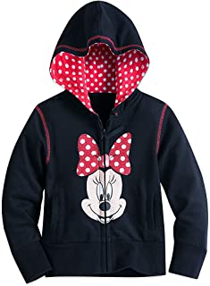 Minnie Mouse Zip Hoodie for Girls Black