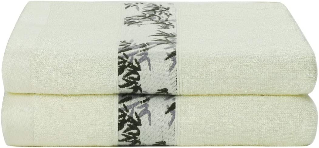 PiccoCasa Bamboo Bath Bargain sale Towels Extra Friendly Luxury Cash special price and Absorbent
