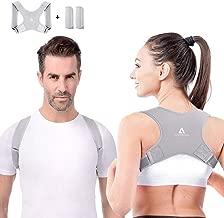 QUNPON Geradehalter zur Haltungskorrektur f/ür eine Gesunde Haltung R/ücken und Schulterschmerzen Damen Herren ideal zur Therapie f/ür haltungsbedingte Nacken