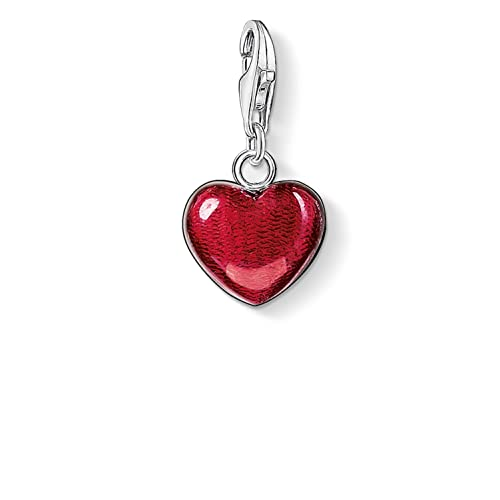 f301dea0146 Thomas Sabo Women-Charm Pendant Heart Charm Club 925 Sterling Silver red  0783-007