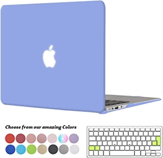 TECOOL Funda MacBook Air 13 Pulgadas (Versión: 2010-2017), Delgado Cubierta Plástico Dura Case Carcasa con Tapa del Teclado para MacBook Air 13.3 Pulgada (Modelo: A1466 / A1369) - Serenidad Azul