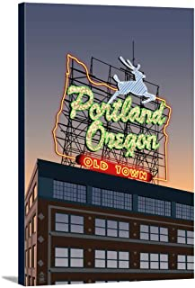Portland, Oregon - Made in Oregon Sign (24x36 Gallery Wrapped Stretched Canvas)
