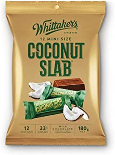 Whittaker's 12 mini size chocolate slab 180g (Made in New Zealand) (Coconut Slab)