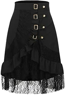 f4befa8a62b Women s Steampunk Skirt On Sale Girls Ladies Party Club Gothic Retro Black Lace  Skirt