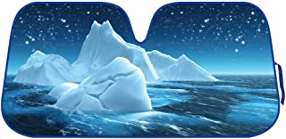 BDK AS- AS-761_AM Cool Iceberg Windshield Sun Shade for Car Auto (Sedan SUV Truck Minivan)