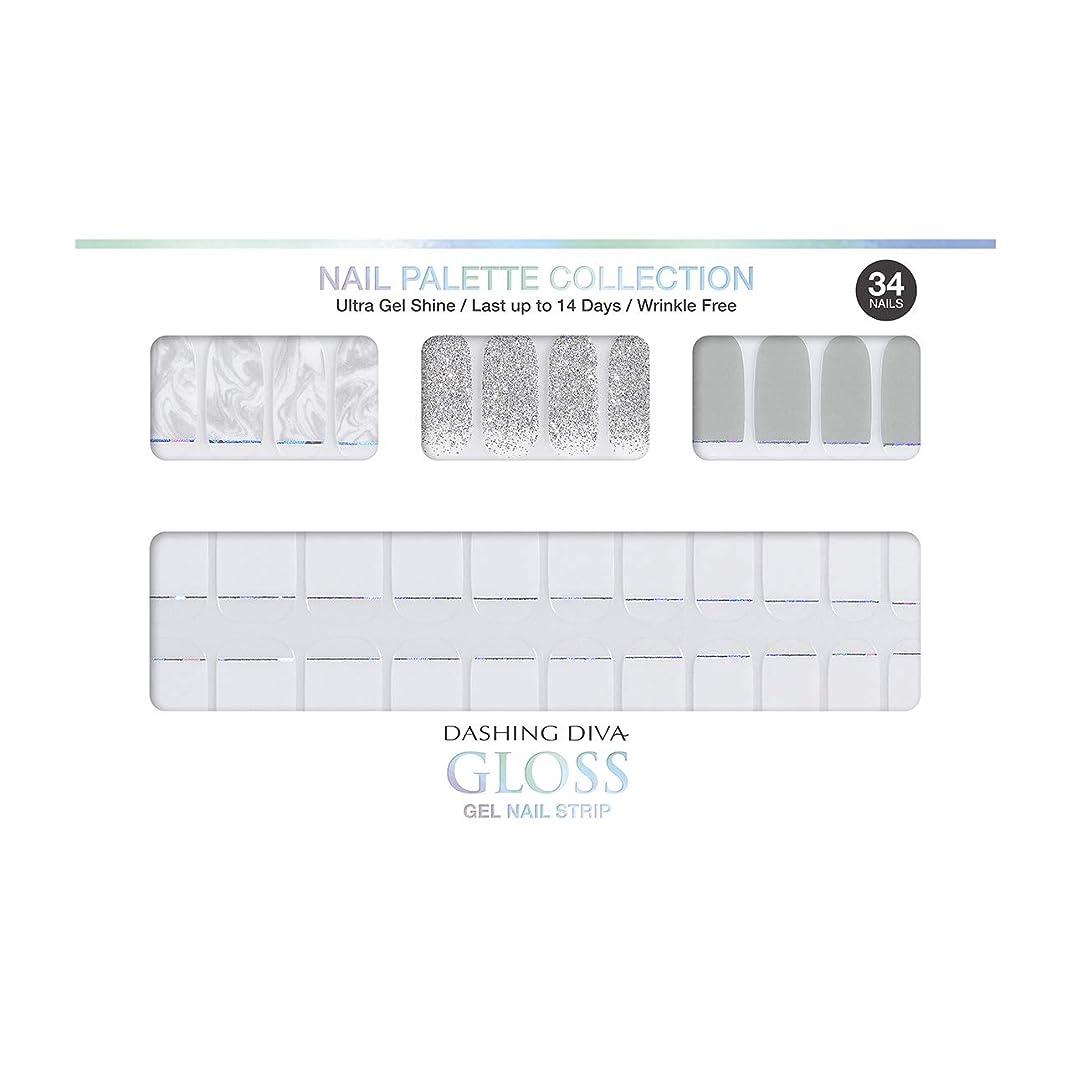 トチの実の木侵入貧困ダッシングディバ グロスジェル ネイルストリップ DASHING DIVA Gloss Gel Nail Strip DGNP08-DURY+ オリジナルジェル ネイルシール Ice #08 Marble bar