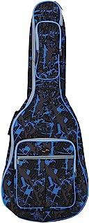 ammoon® 600D Resistente al Agua Oxford Tela Doble Cosido Correas Acolchadas Gig Bag Estuche Portátil para 41Inchs Guitarra Acústica folk Clásica Camuflaje Azul