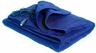 MAXSA 20013 Large Heated Travel Blanket for In-Vehicle Usage with 12-Volt Car Adapter and Safety Timer (41